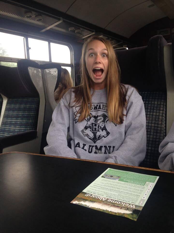 Riding the hogwarts express