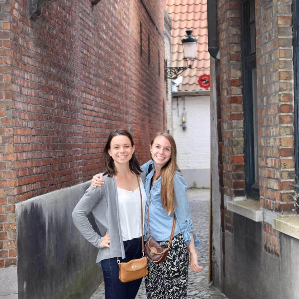 Tahvi and Sarah in Belgium
