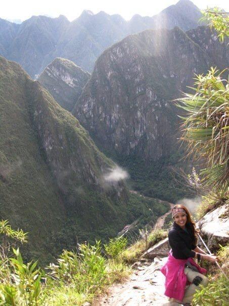 Vanessa at the peak of Machu Picchu