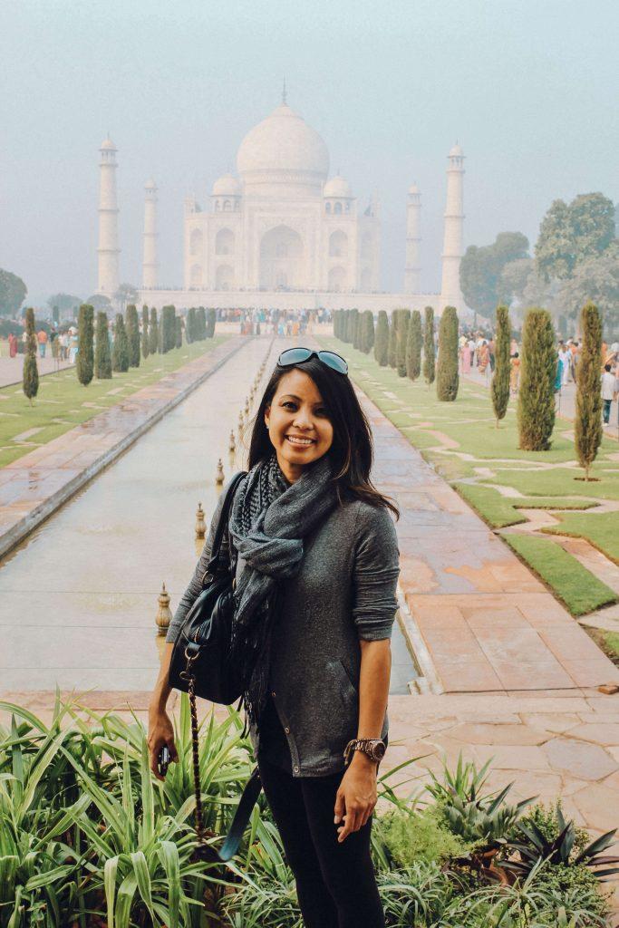 Vanessa at the Taj Mahal.