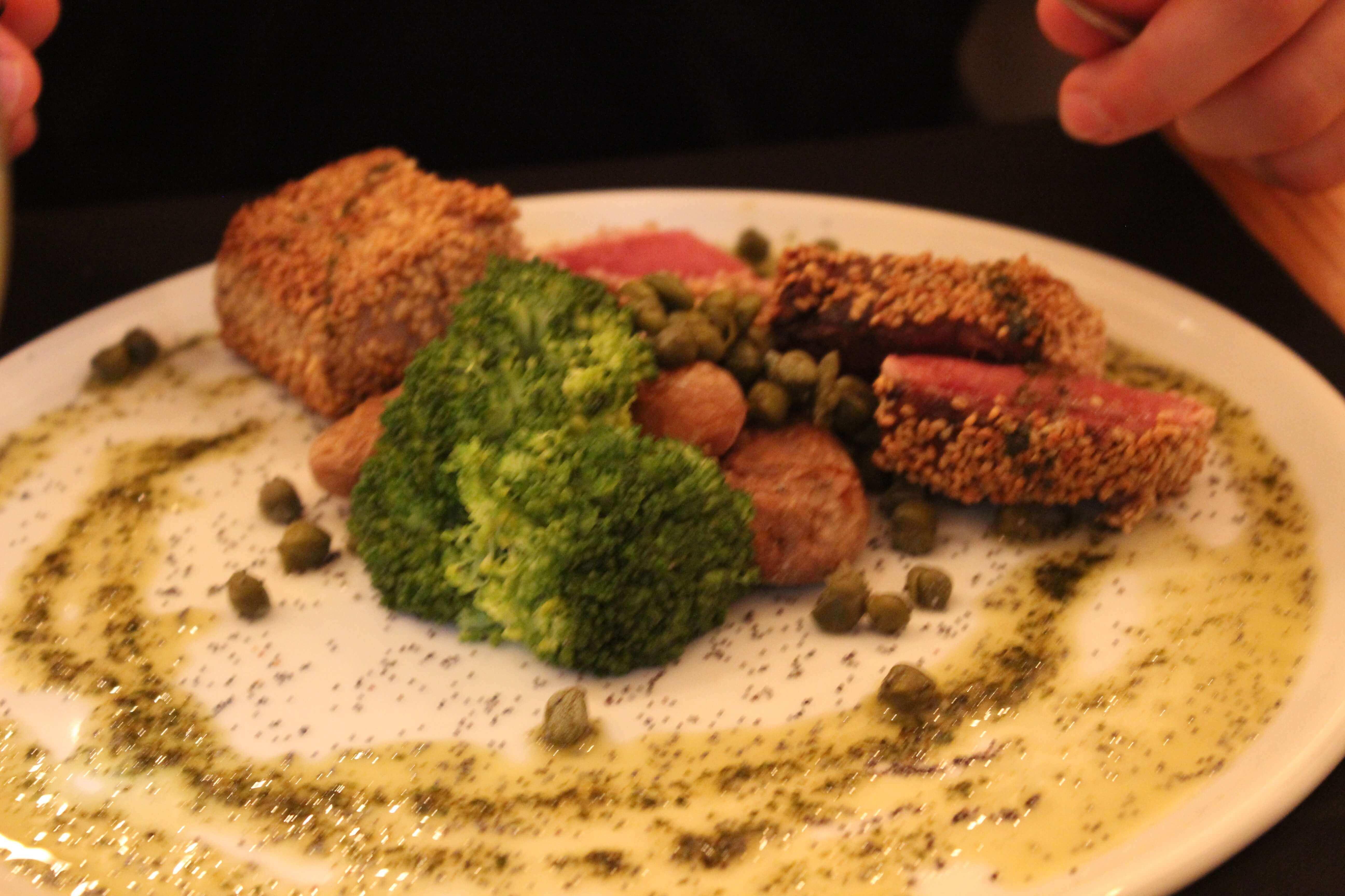 tuna steak close up