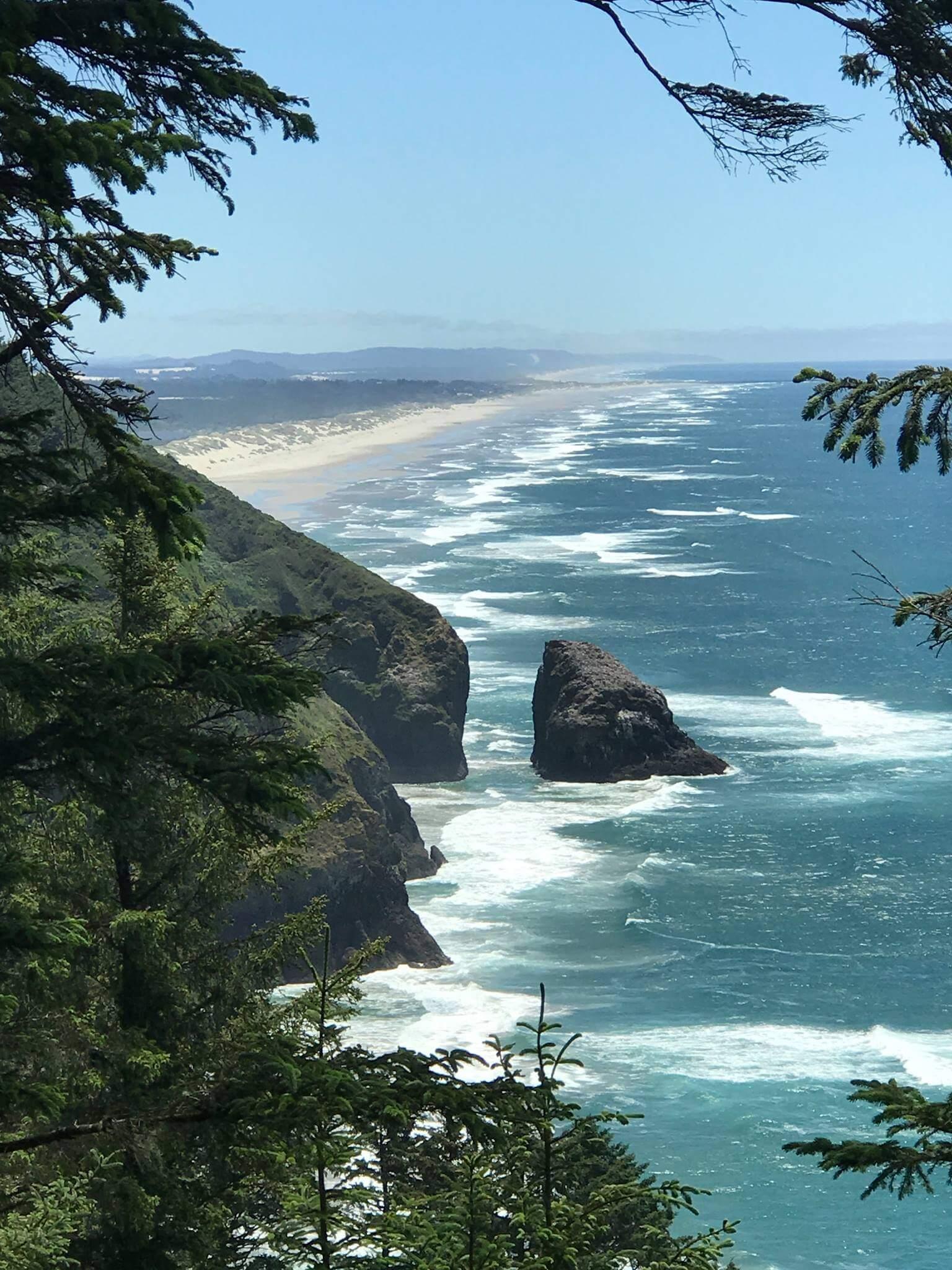 the coastline where the ocean meets the sand