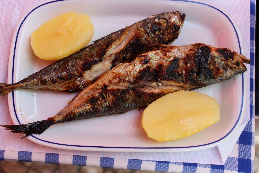 Bacalhau and potatoes