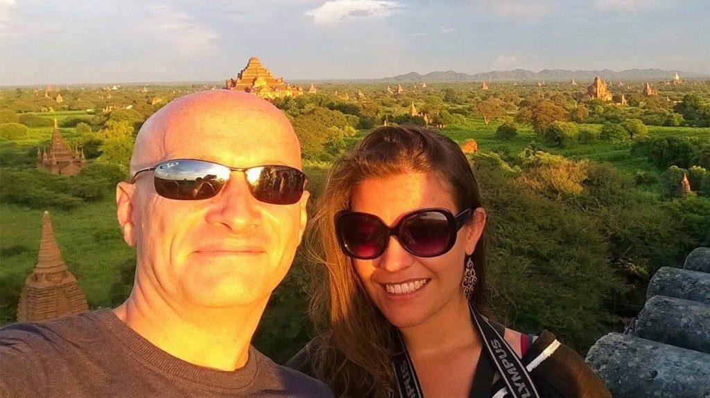 Melanie in Myanmar.