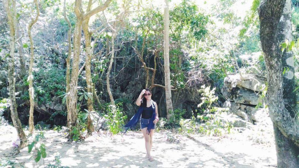 Jhanz walking in the Woods