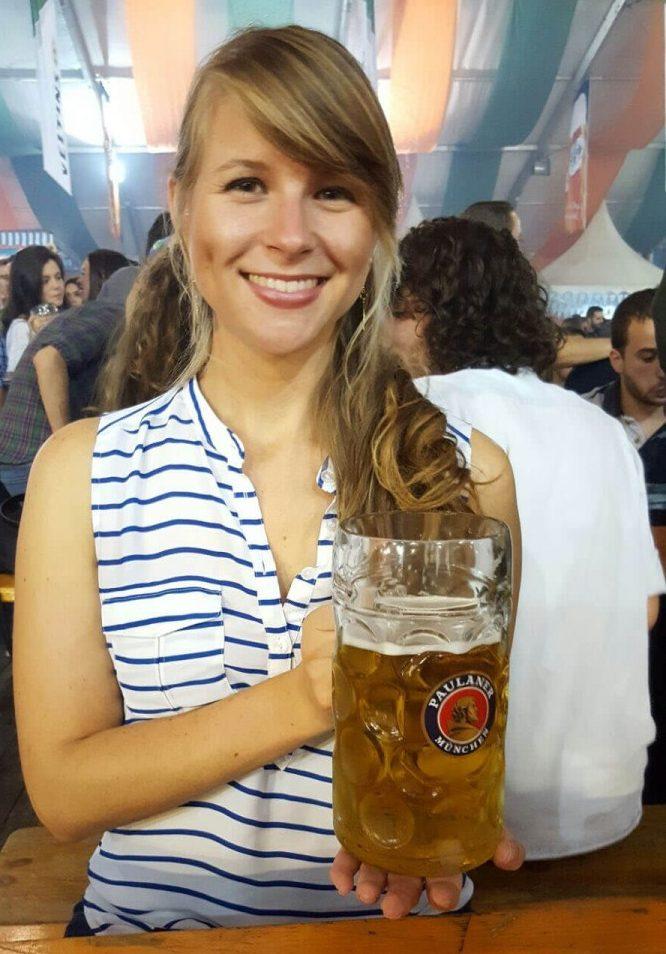 Angela at Oktoberfest in Germany