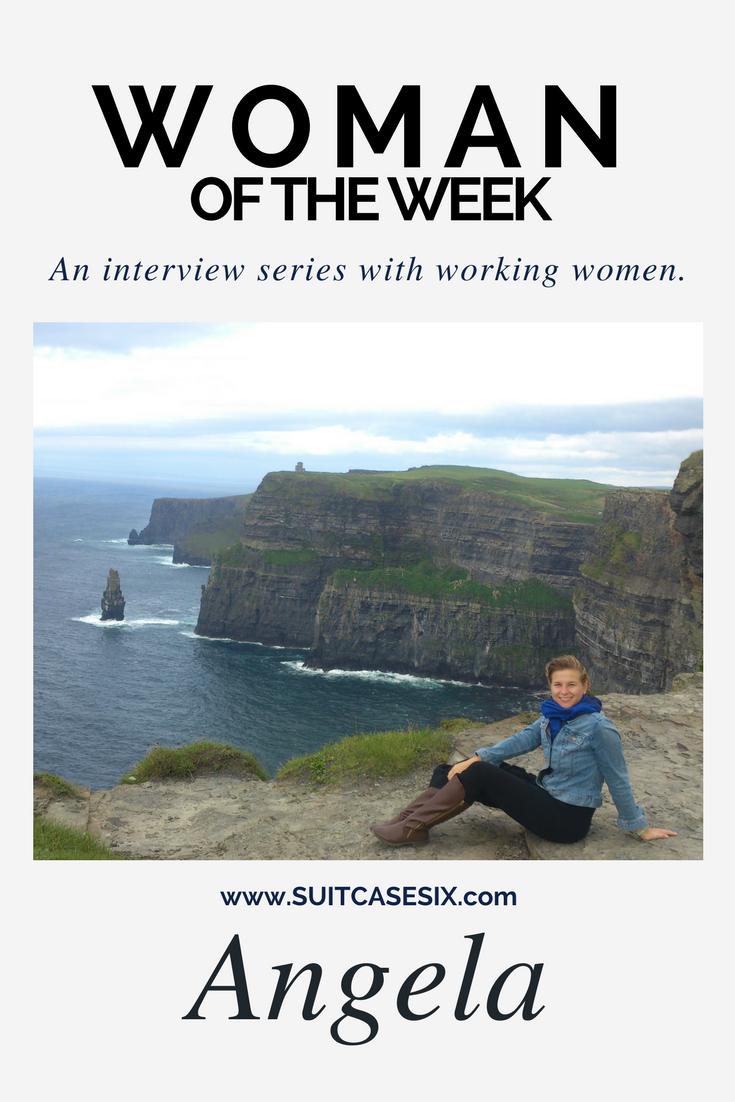 woman of the week: Angela pin