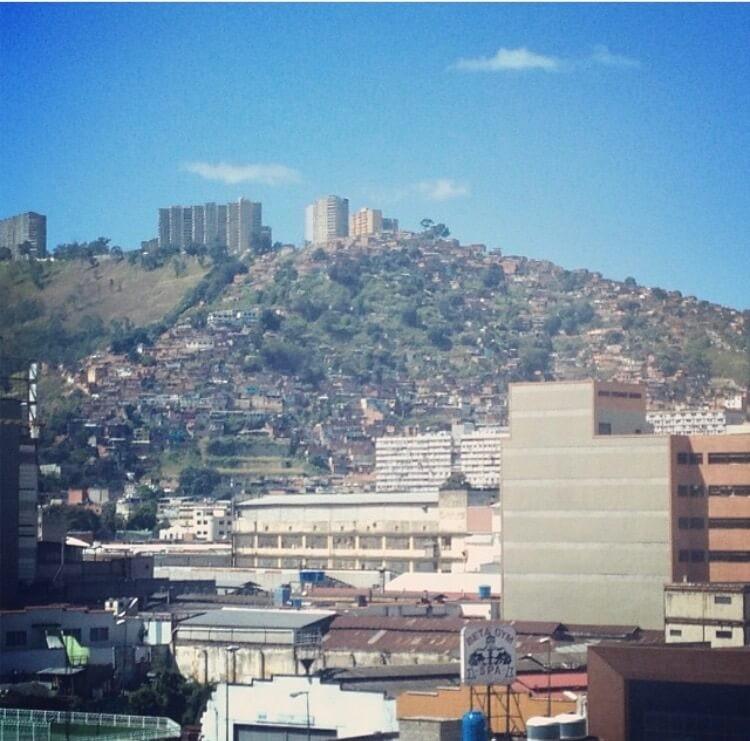 Views of Venezuela and a blue sky