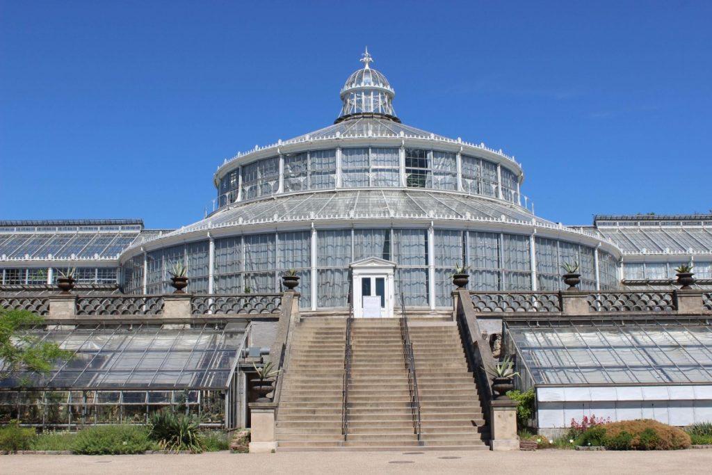 the Copenhagen Botanical Gardens greenhouse - costs of travel in Scandinavia