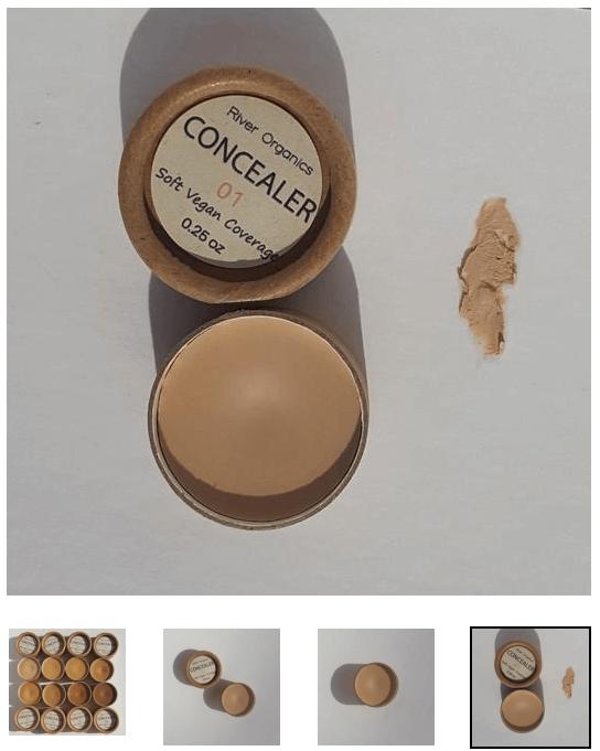 photo of opened cardboard vegan concealer